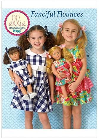 Kwik Sew Girls & Doll Clothes Sewing Pattern 0193 Matching Dresses
