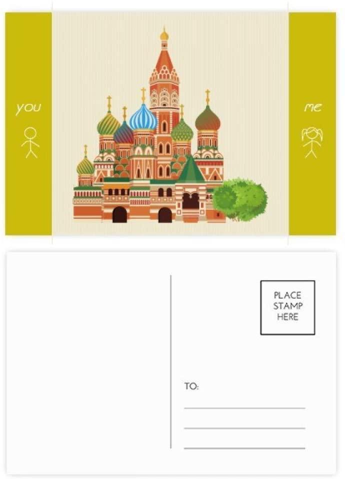 Russia Landmark Illustration National Symbol Friend Postcard Set Thanks Card Mailing Side 20pcs