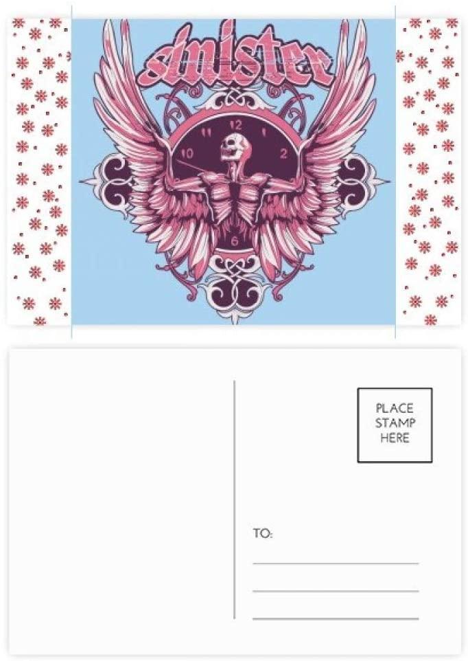 Graffiti Street Skull Angle Clock Pattern Christmas Christmas Flower Celebration Postcard Blessing Mailing Card