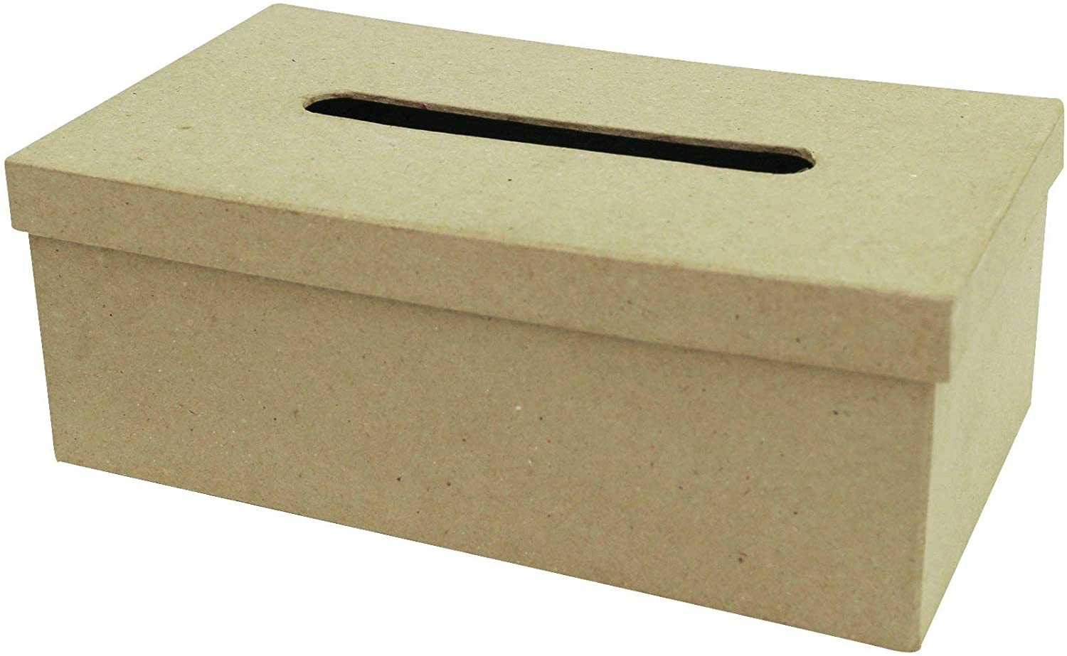 Exact Décopatch Mache Rectangle, 14x25x9cm-Brown Decopatch Tissue Box, AC657O Brown, 14x25x9cm
