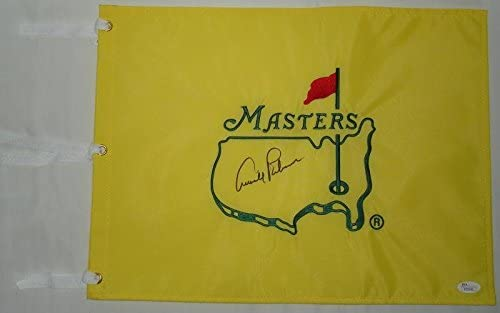 Arnold Palmer Hand Signed Autographed The Masters Flag - Augusta National - Undated - JSA - Autographed Golf Pin Flags