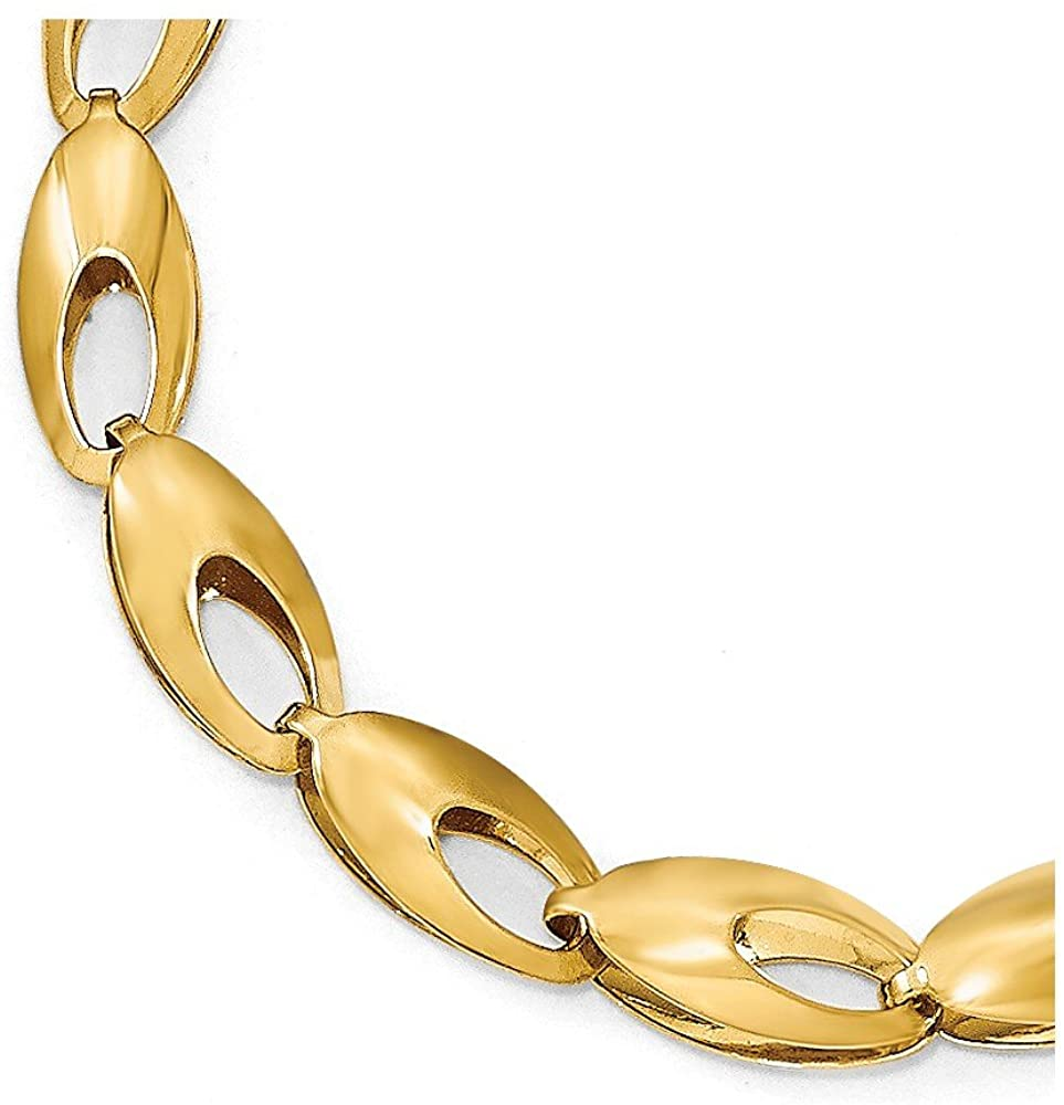 14k Yellow Gold and Diamond-Cut Bracelet - with Secure Lobster Lock Clasp 7