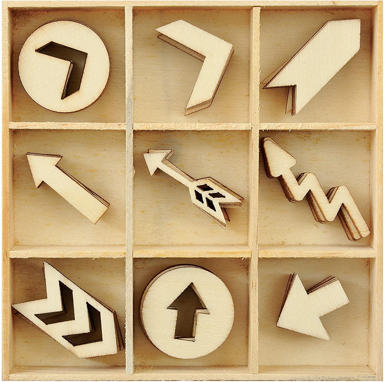 Wood Flourishes 45/Pkg-Arrows