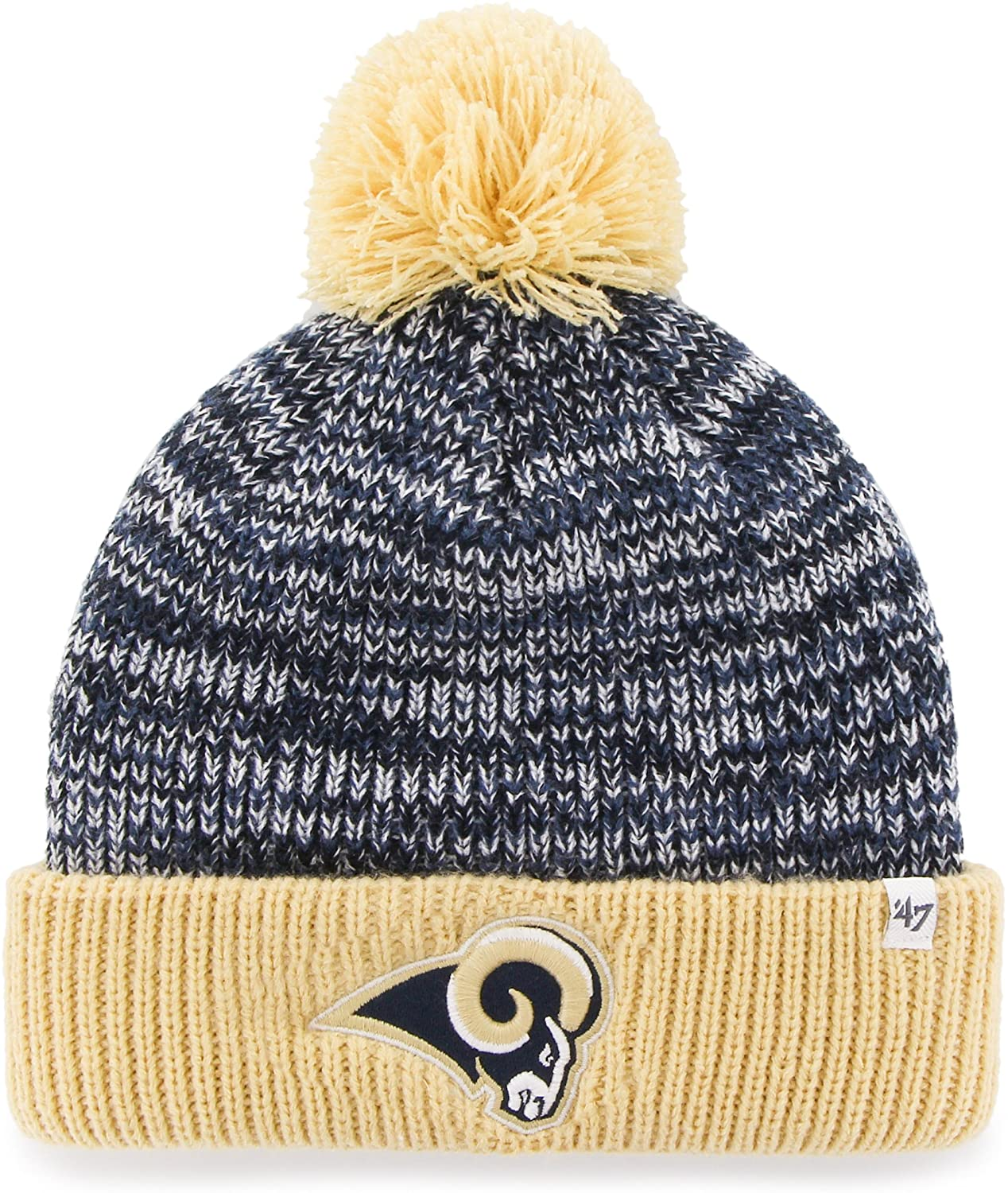 '47 NFL Adult Women's Trytop Cuff Knit Hat with Pom