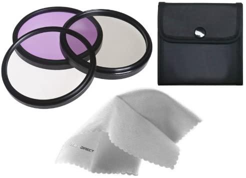 Digital Nc High Grade Multi-Coated, Multi-Threaded, 3 Piece Lens Filter Kit (55mm) + Nwv Direct Microfiber Cleaning Cloth. (Alternative for Hoya GIK55GB)