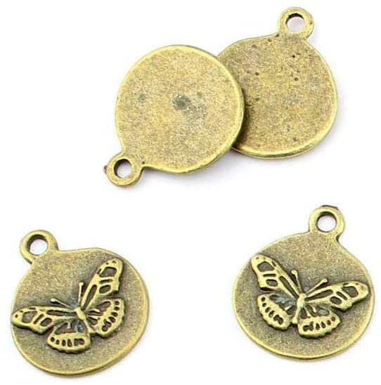 330pcs Jewelry Making Charms Jewellery Charme Antique Brass Tone Fashion Finding for Necklace Bracelet Pendant Earrings Repair DIY EP010 Butterfly Signs