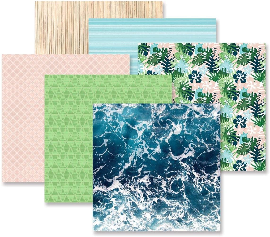 Creative Memories Vitamin Sea Paper Pack 12 Double Sided Sheets for Scrapbooking and Card Making