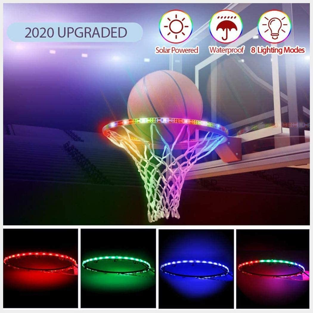 Iannan LED Basketball Frame Lamp Solar Basket Induction Color Luminous Goal Light Strip Indoor String Lights