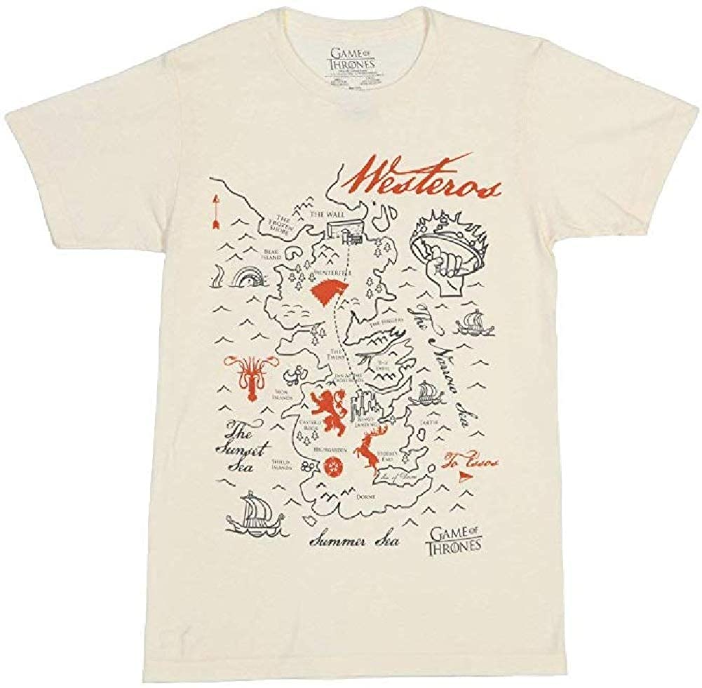 Game of Thrones Map of Westeros Graphic T-Shirt