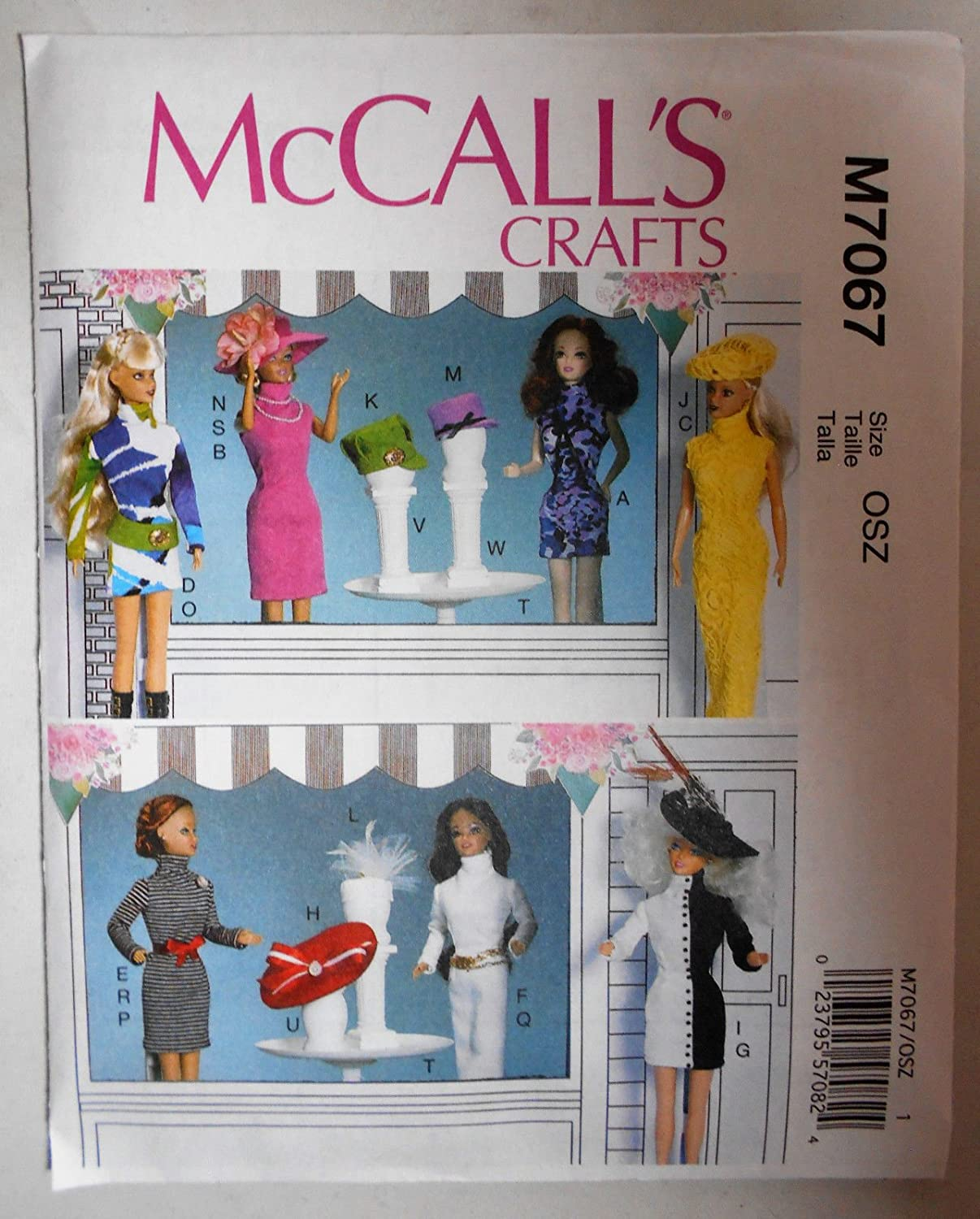 McCall's 7067 Sewing Pattern for 11.5