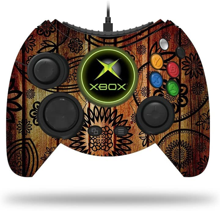 MightySkins Skin Compatible with Microsoft Xbox One Hyperkin Duke Controller - Wooden Floral | Protective, Durable, and Unique Vinyl wrap Cover | Easy to Apply, Remove | Made in The USA