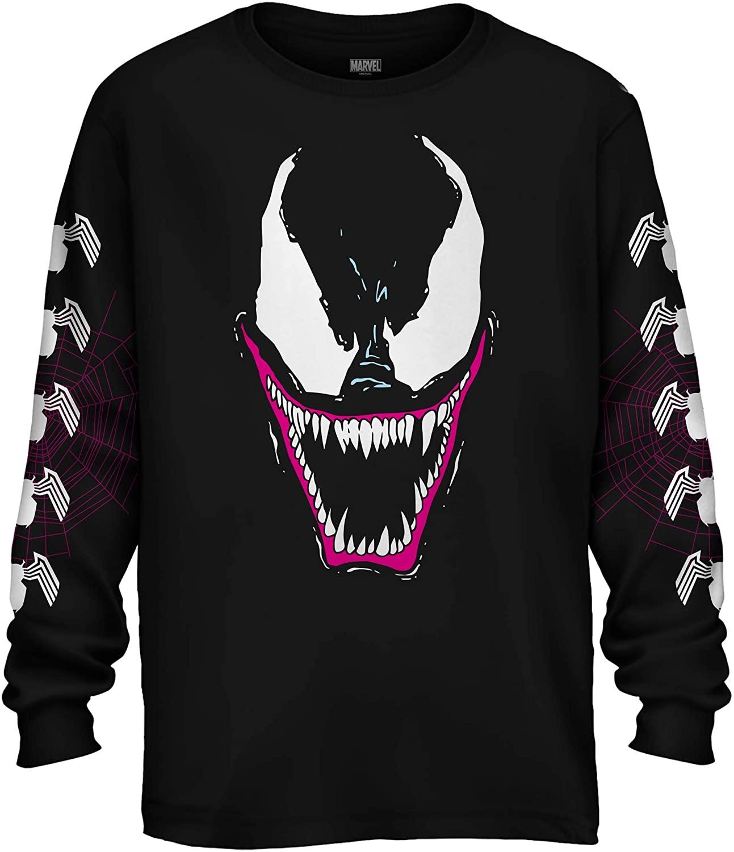 Marvel Venom Grin 90's Adult Long Sleeve T-Shirt