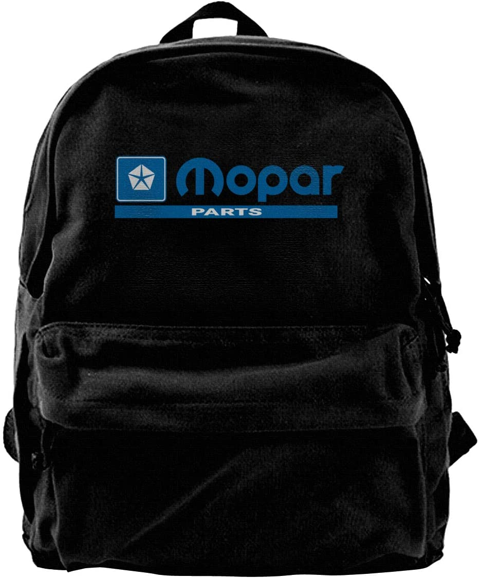 Mo-par Parts Canvas Backpack School Laptop Bag Hiking Travel Rucksack Black Unisex Daypack