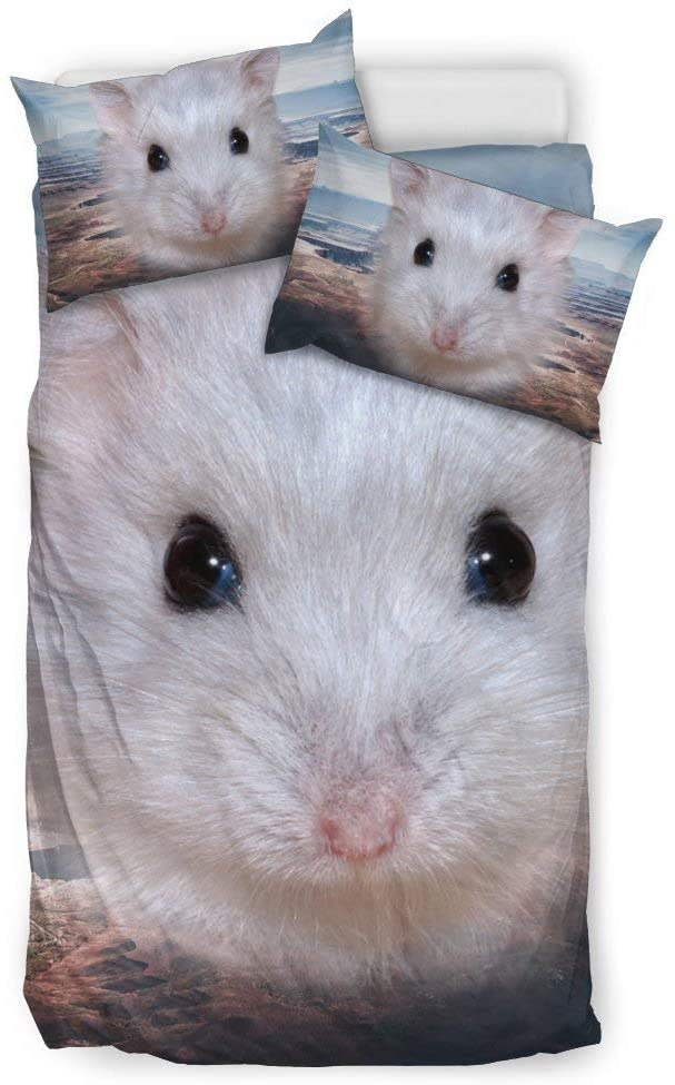 Pawfeel Cute Campbell's Dwarf Hamster Print Bedding Sets