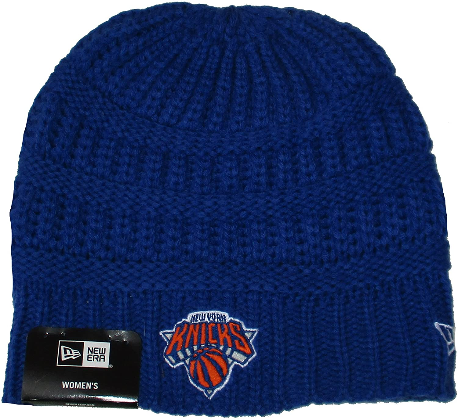 New York Knicks New Era Women's Cuffless Knit Beanie One Size Hat Cap - Team Colors