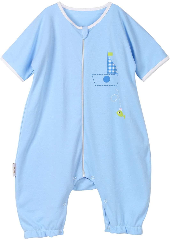 BLOOMSTAR Toddler Sleep Bag with Leg Summer Natural Cotton Baby Sleeping Sack Short Sleeve 1.0 Tog
