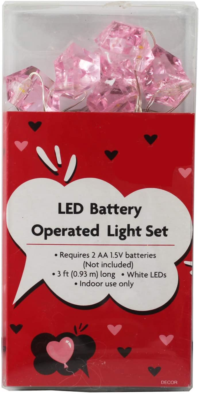 Connie N Randy LED Battery Operated Light Set Pink Rocks