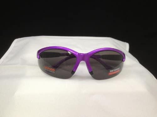 Smoke Scratch Resistant Lens, Purple Frame, Cougar Safety Glasses Lot 12