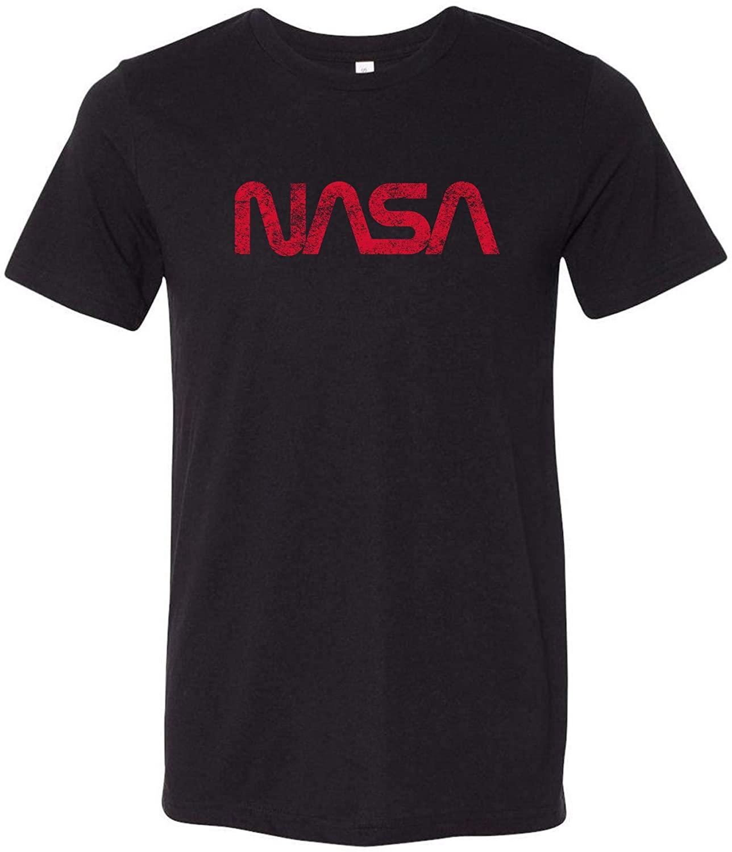 NASA Distressed Worm Logo - National Aeronautics and Space Administration Canvas Triblend T Shirt