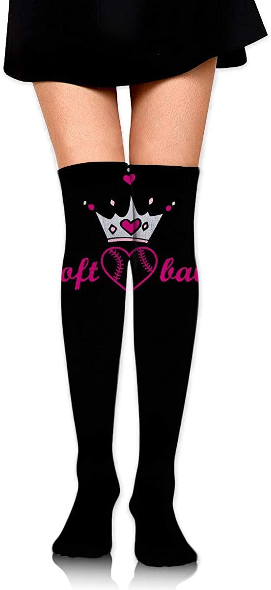 Knee High Socks Softball American Usa Flag Womens Athletic Over Thigh Long Stockings
