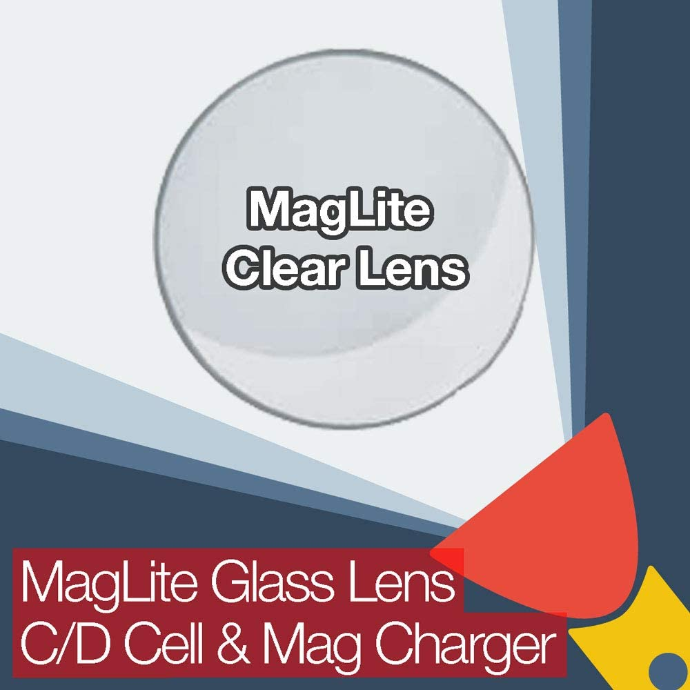 MagLite Replacement Clear Glass Lens for C/D Cell and Mag Charger Flashlights