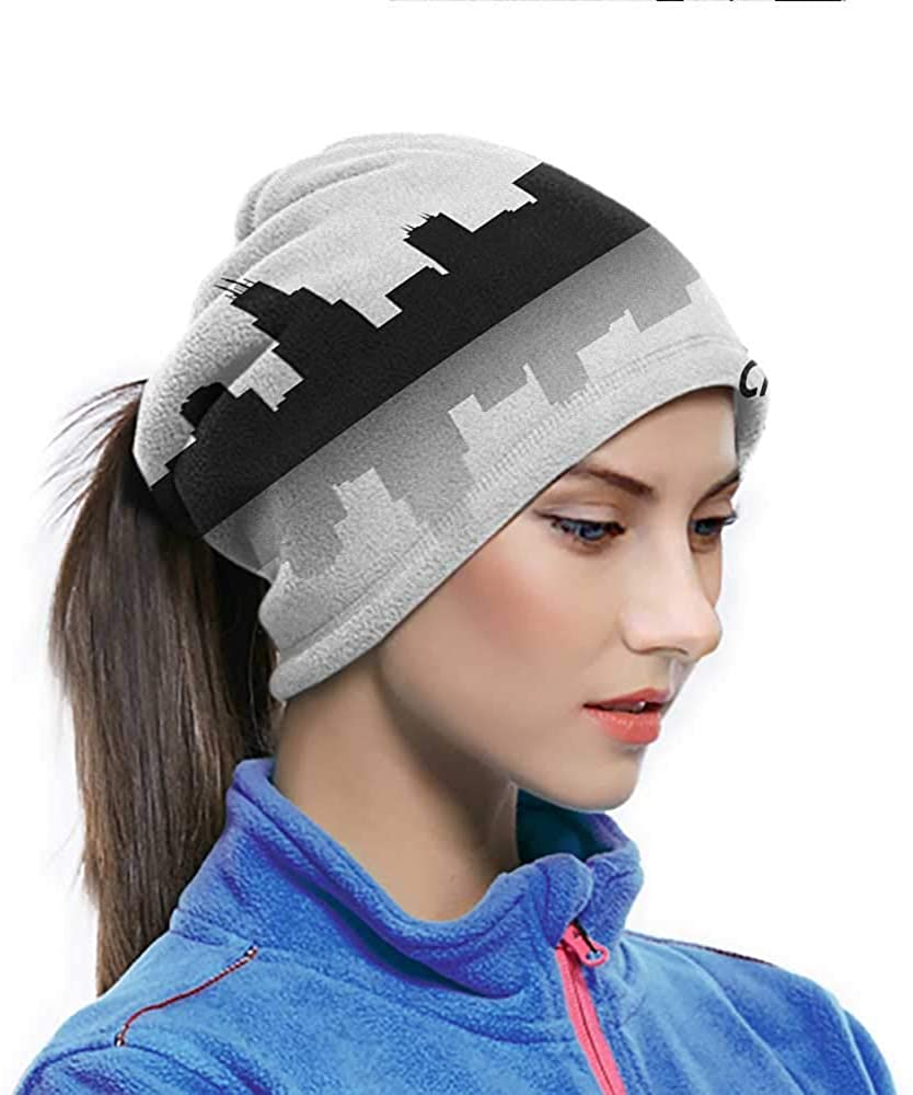 Cycling Scarf Downtown Skyscrapers Illinois Tourism Travel Country Urban Minimalist Sun UV Protection Neck Gaiter Great for running and Material is So Soft 10 x 11.6 Inch