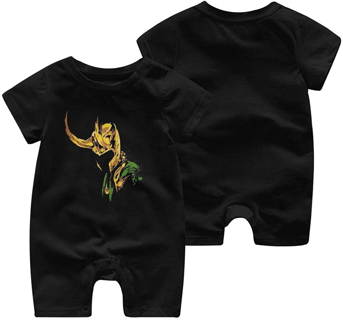 NOT Loki Lafeyson Baby Jumpsuit Infant Short Sleeve Kids Cotton Bodysuit