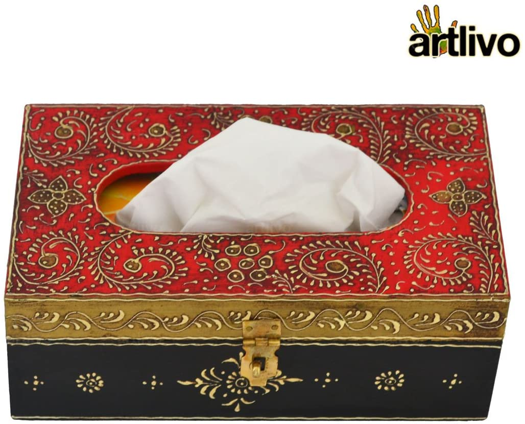 Bold RED Tissue Box