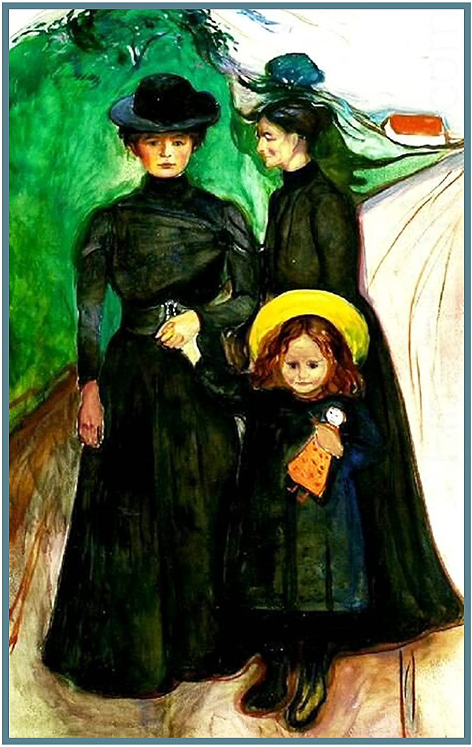 Orenco Originals Portrait a Family in Mourning Symbolist Artist Edvard Munch Counted Cross Stitch Pattern