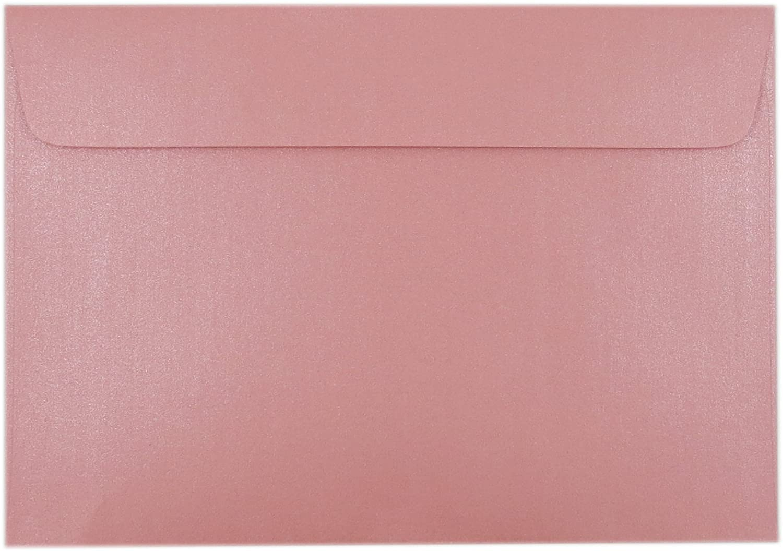 EnvelopeMart A7 Invitation Envelopes, 50 Pack Metallic Envelopes Size 5 1/4 x 7 1/4 inches. (Pink Metallic)