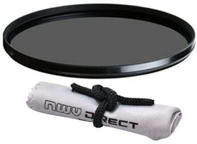 Vivitar High Grade Multi-Coated, Multi-Threaded, Circular Polarizing Filter (105mm) + Nwv Direct Microfiber Cleaning Cloth. (Alternative for Heliopan Part# 710580)