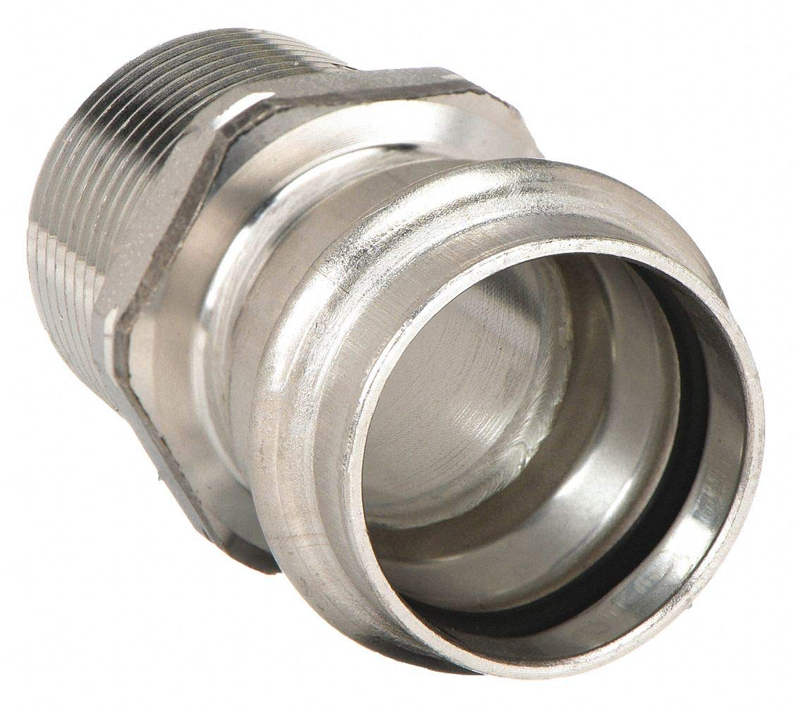 304 Stainless Steel Adapter, Press x MPT Connection Type, 1