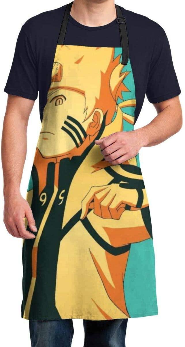 KURITIANAdjustable Apron Waterdrop Resistant Japanese Naruto Cooking Kitchen Aprons for Women Men Chef