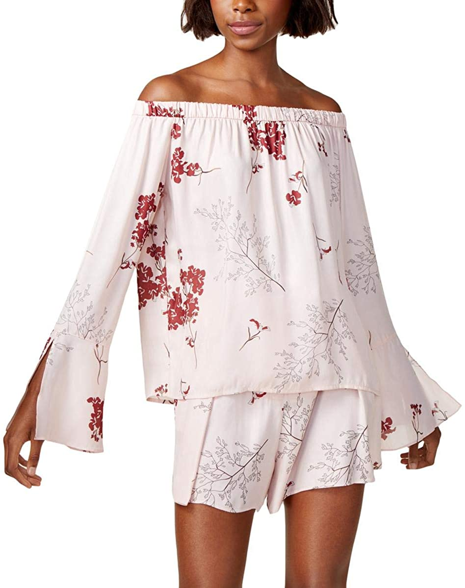 Mare Mare Womens Lex Off-The-Shoulder Floral Print Peasant Top