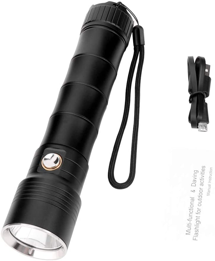 Lumiere LED Rechargeable Flashlight Tactical CREE XM-L2 LED960 Lumens Floodlight IPX8 Waterproof Flashlight Great for Camping, Hunting, Rescue, Home Defense