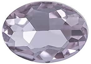5pcs Embellishment Rhinestone, Light Purple Oval foil Back Crystal 18x13mm/pack (3packs Bundle), Save $2