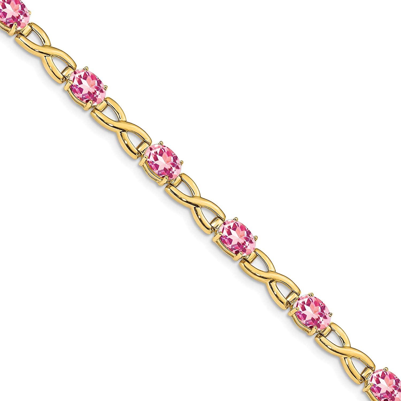 Bonyak Jewelry 14k 7x5 Gemstone Bracelet Mounting in 14k Yellow Gold