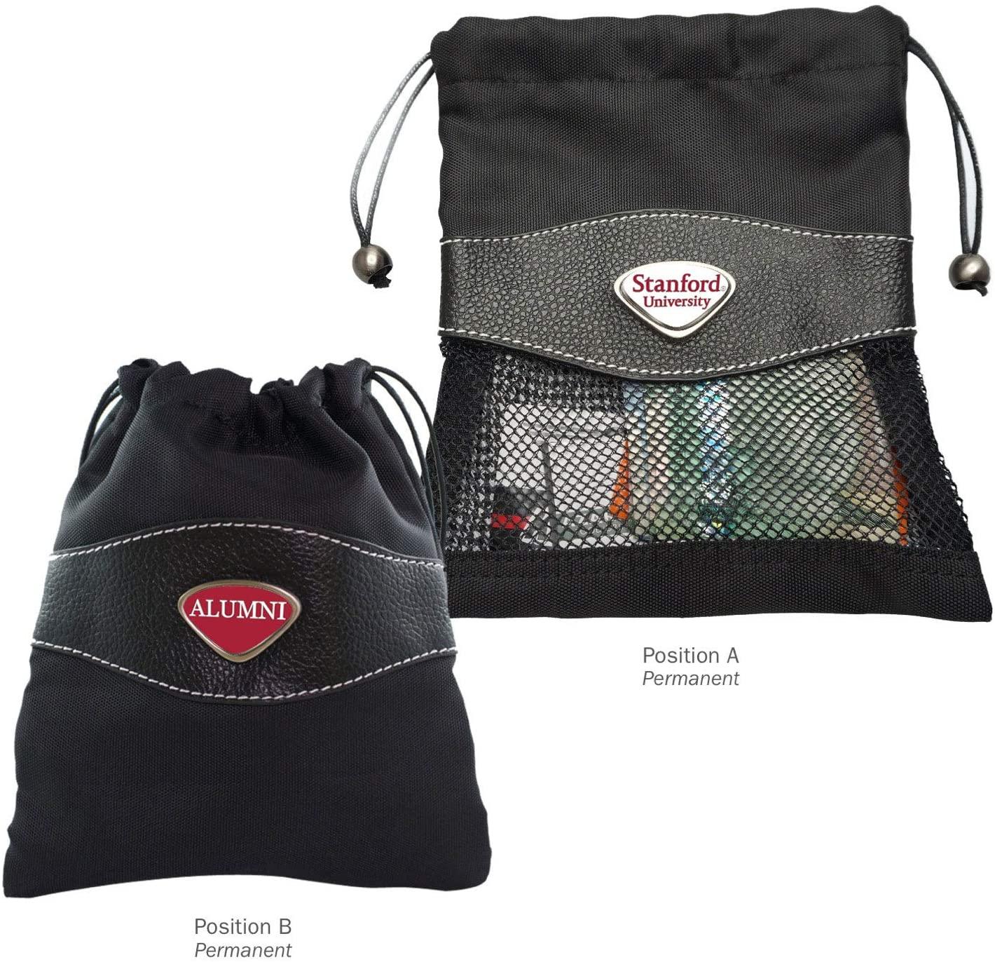 AdSpec NCAA Stanford Cardinal Collegiate Valuables BagCollegiate Valuables Bag, Black, One Size