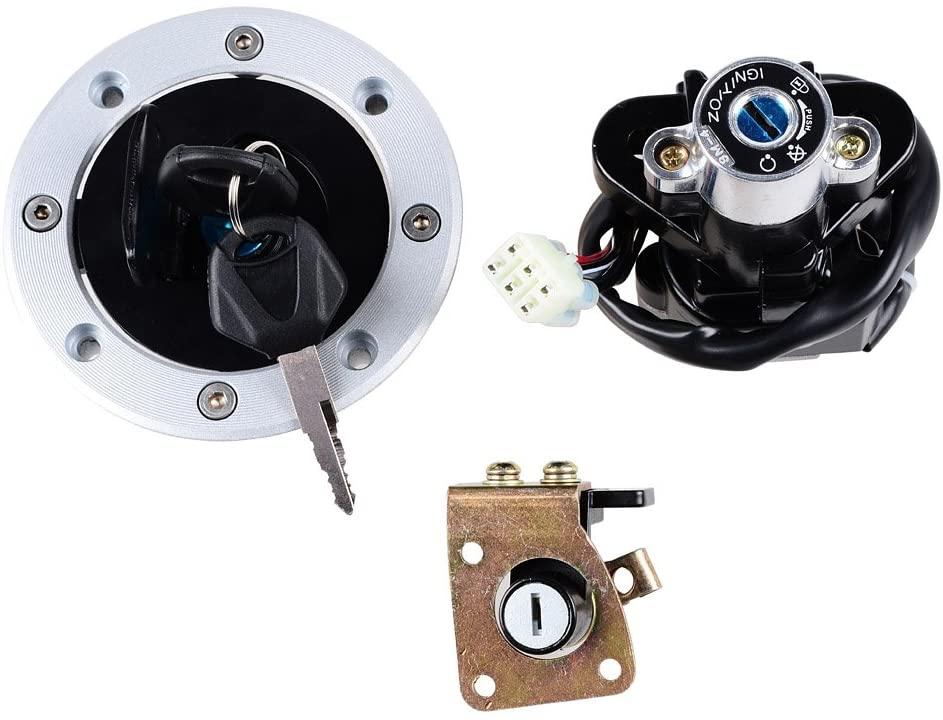 Ignition Switch Gas Fuel Tank Cap Seat Lock + 2 Keys Kit For Suzuki TL1000R TL1000S GSX600 GSX750 GSX1200 GSXR600 GSXR750