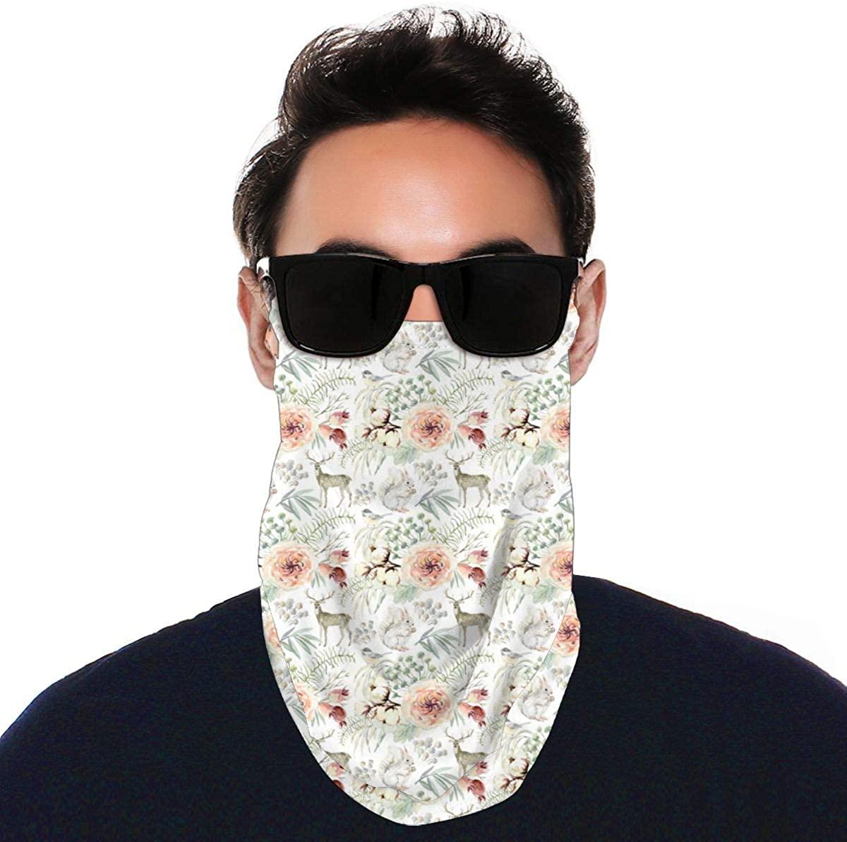 Pearl Winter WhiteEar Loops Bandana Face Protector Variety Face Towel Headwear