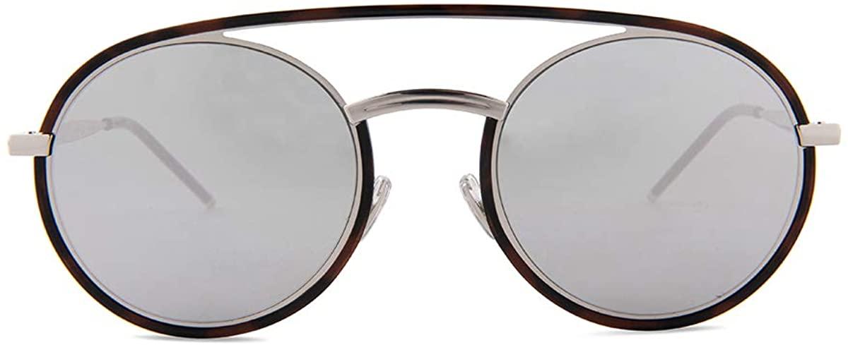 Dior Homme Syntesis01 45Z Havana Silver Syntesis01 Round Sunglasses Lens Catego