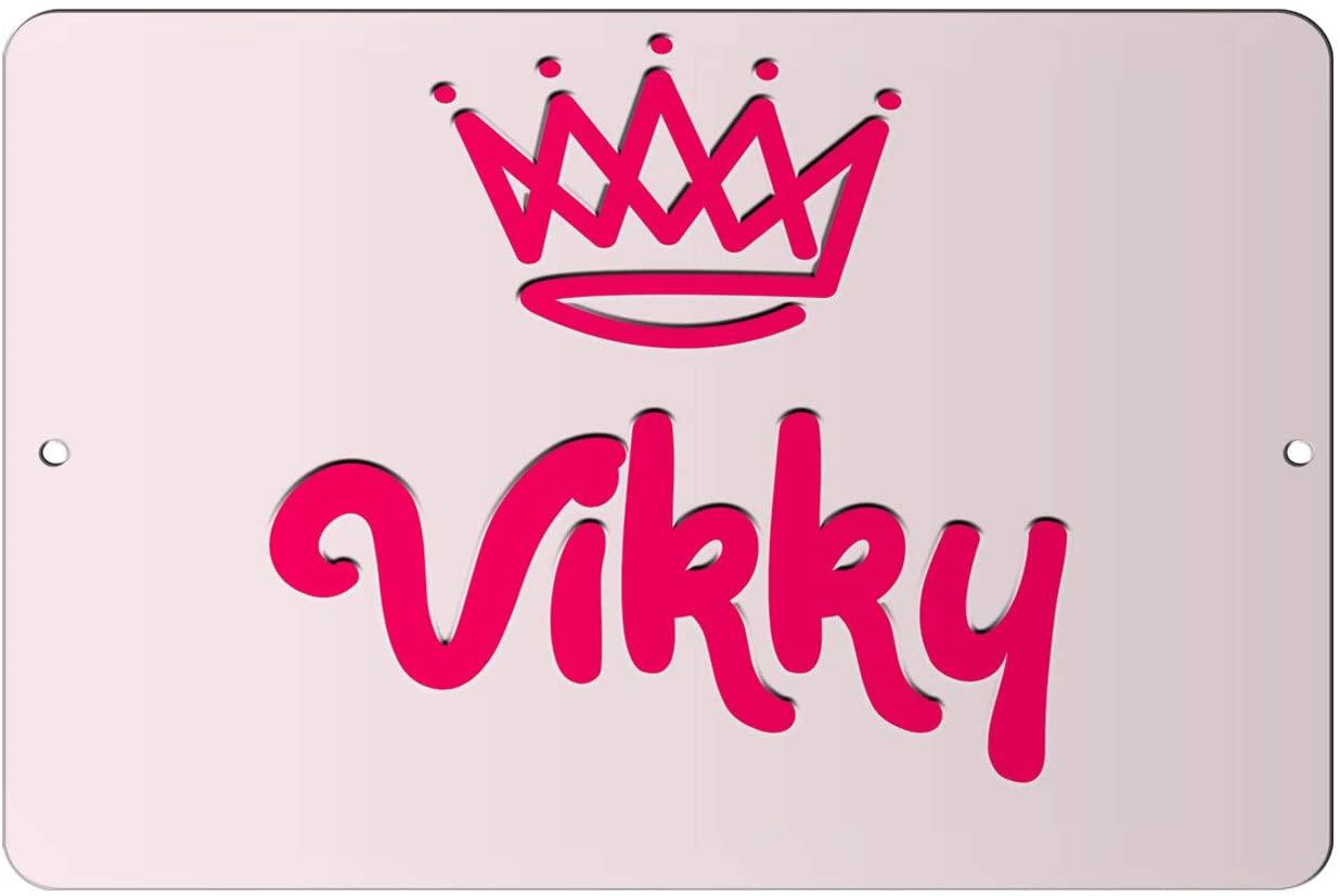 Makoroni - Vikky Girl Female Name 8x12 inc Aluminum Decorative Wall Street Sign