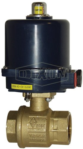 Dixon BV2BV-20011-ES Electric Actuated FNPT Ball Valve with Heat, 24 VAC, NEMA 4, 2