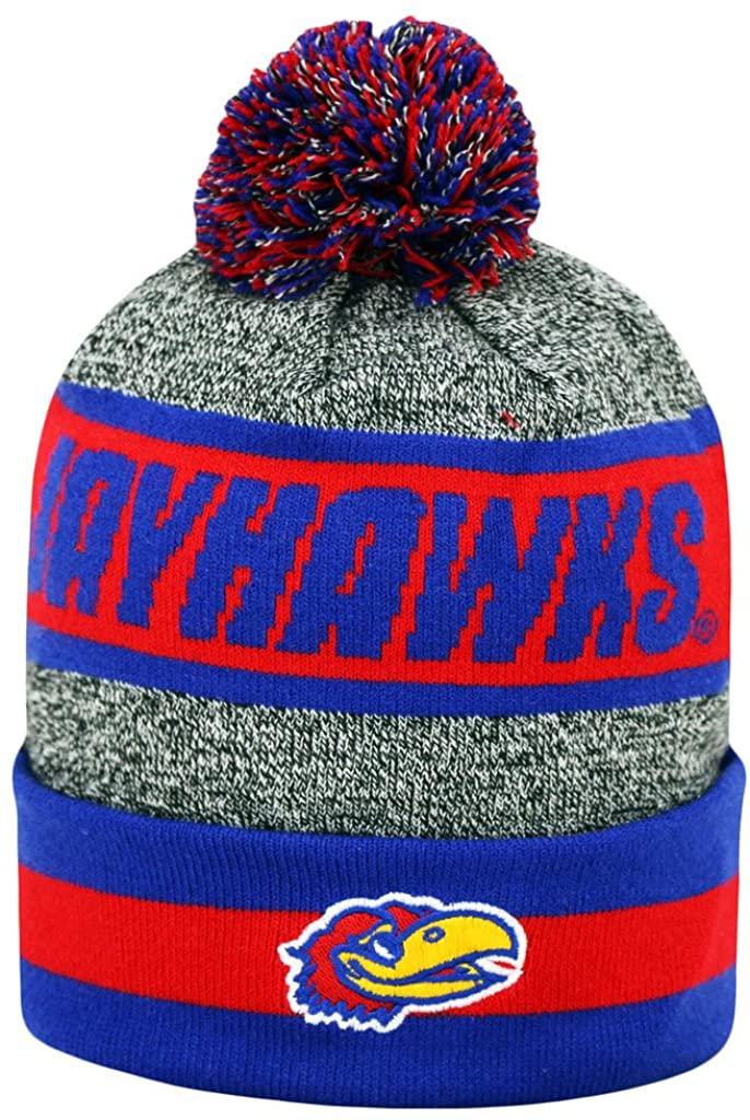 Top of the World Kansas Jayhawks Official NCAA Cumulus Cuffed Knit Beanie Stocking Hat Cap 240682
