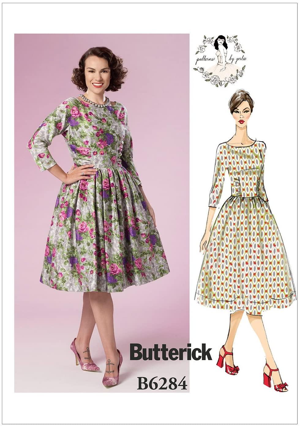 BUTTERICK PATTERNS B6284 Misses' Dress, E5 (14-16-18-20-22)