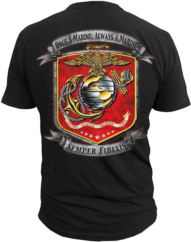 Black Ink Men's Once a Marine Semper Fidelis