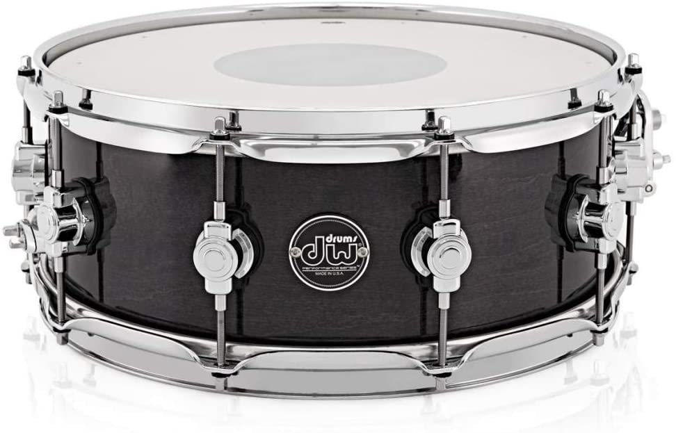 DW Performance Series Snare Drum - 8 Inches X 14 Inches Ebony Stain Lacquer