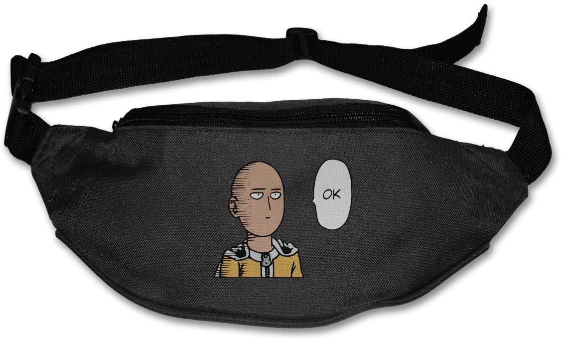 Liuqidong One Punch Man Waist Pack Bag Fanny Pack for Men&Women Hip Bum Bag with Adjustable Strap for Outdoors Workout Traveling Casual Running Hiking Cycling