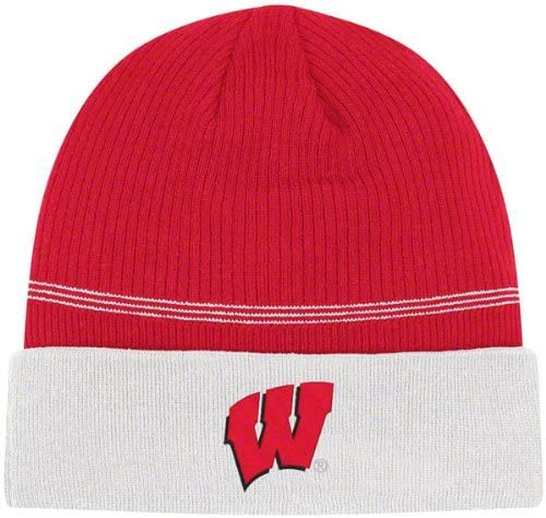 adidas Wisconsin Badgers Red Sideline Football Coaches Knit Hat