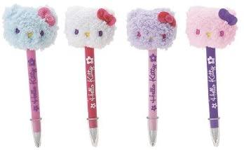 Set of 4 Hello Kitty Fur Ballpoint Pen Mosaic